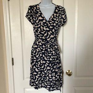 Boden short sleeve wrap dress